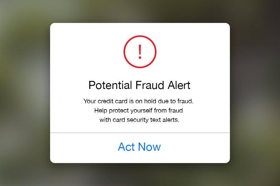 Image re potential fraud alert