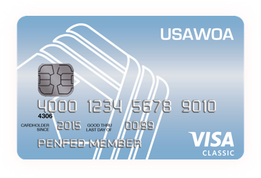 Image of United States Army Warrant Officers Association Classic Visa card