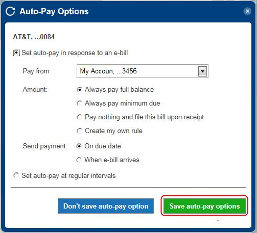 auto-pay setup step 4