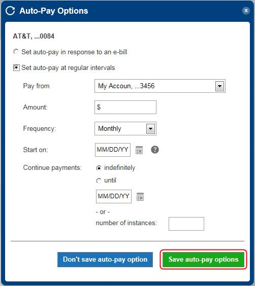 auto-pay setup step 5