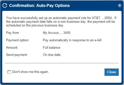 auto-pay setup step 6