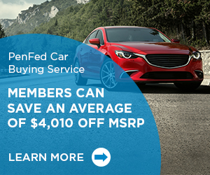 PenFed Car Buying Service; Members can save an average of $4,010 off MSRP. Learn More.