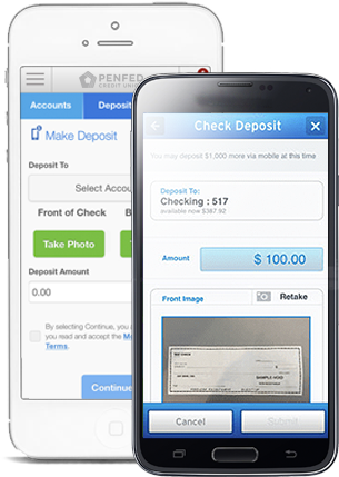 Mobile deposit example