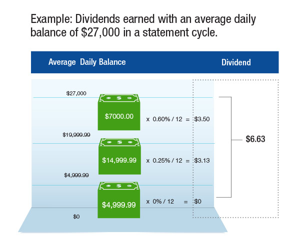 Access America Checking Dividends Example