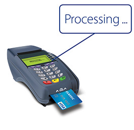 Card processing in an EMV enabled chip terminal