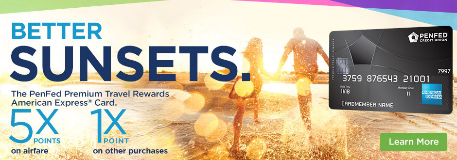 Better Sunsets - PenFed Premium Travel Rewards American Express® Card