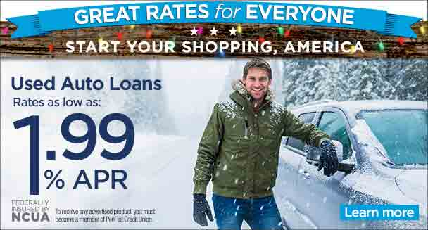 Used auto loans as low as 1.99% APR