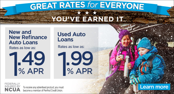 Auto loans as low as 1.49% APR
