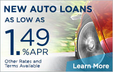 New Auto Loans As Low As 1.49% APR