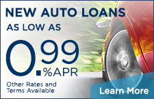 New Autos Loans As Low As 0.99% APR