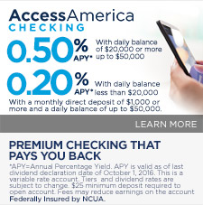 Access America Checking Featured Benefit 10012016