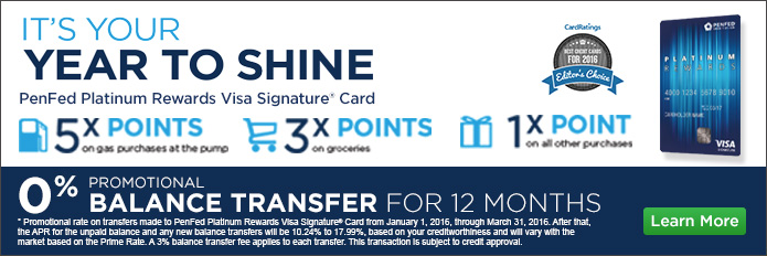 Visa Platinum Rewards Logoff Banner