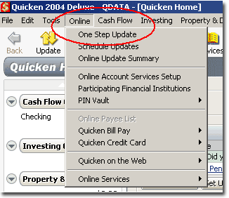 Quicken Step 2 Screenshot