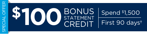 $100 Bonus Statement Credit